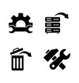 data recovery repair simple related icons vector image