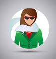 Design icons woman on a white background vector image