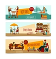 Eating People Banner Set vector image
