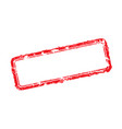 frame of rubber stamps vector image vector image