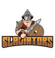 gladiator mascot symbol vector image vector image