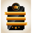 gold awards vector image vector image