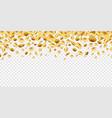 golden coins falling 3d money on transparent vector image vector image