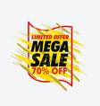 grunge mega sale banner vector image vector image