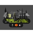 Halloween house at night vector image vector image
