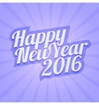 Happy New Year 2016 with calligraphic vector image