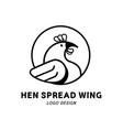 hen spread wing logo vector image vector image