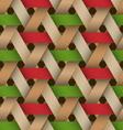 Hexagone Birchbark Basketwork vector image vector image