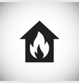 home fire alarm on white background vector image