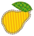 Isolated Patchwork Yellow Pear vector image vector image