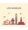 Los Angeles skyline linear vector image vector image