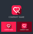 love icon valentine logo vector image