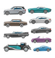 luxury car retro auto transport and vehicle vector image vector image