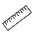 measure tool line icon tools and design ruler vector image