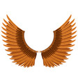mechanical wings in steampunk style isolated vector image vector image