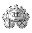 medieval carriage icon vector image vector image