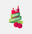 merry christmas candles and christmas balls vector image vector image
