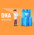 modern dna research concept banner cartoon style vector image vector image