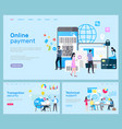 online payment and transaction technical support vector image vector image