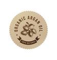 organic argan oil emblem vector image vector image