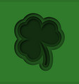 paper art of cloverleaf 3d cloverleaf on st vector image