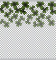 patrick s day image translucent clover leaves on vector image vector image