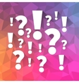 question and answers symbols vector image vector image