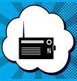 radio sign black icon in vector image vector image