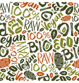 Raw vegan seamless pattern vector image vector image