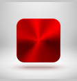 red app icon template with metal texture vector image vector image