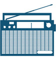 retro radio receiver icon isolated on white vector image vector image