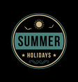 Retro summer vintage label on dark background vector image
