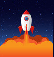 rocket launch product business vector image vector image