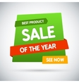 Sale of the year Best product See now vector image vector image