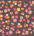 seamless pattern with flat stylized vector image vector image