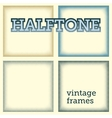set of halftones background vector image vector image