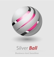 Silver ball elegant icon vector image