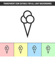 simple outline transparent ice cream icon vector image vector image