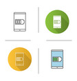 smartphone battery icon vector image vector image