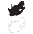 south africa country map black silhouette