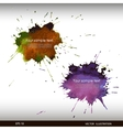 Splash watercolor banner vector image