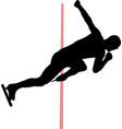 start man speed skaters vector image vector image