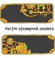 steampunk headers vector image