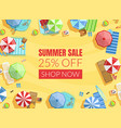 summer sale banner template shop now poster or vector image vector image