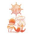 summer sun logo design vector image vector image