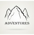 The three peaks vintage mountains Adventure vector image