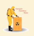 transport of hazardous waste vector image