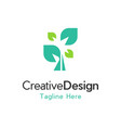tree growth naturally creative business logo vector image vector image