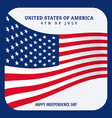 united states america flag background vector image vector image