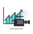 video marketing design vector image vector image